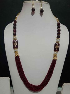 Handmade Cheed Mala Set