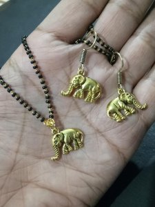 Antique Elephant Mangalsutra Set