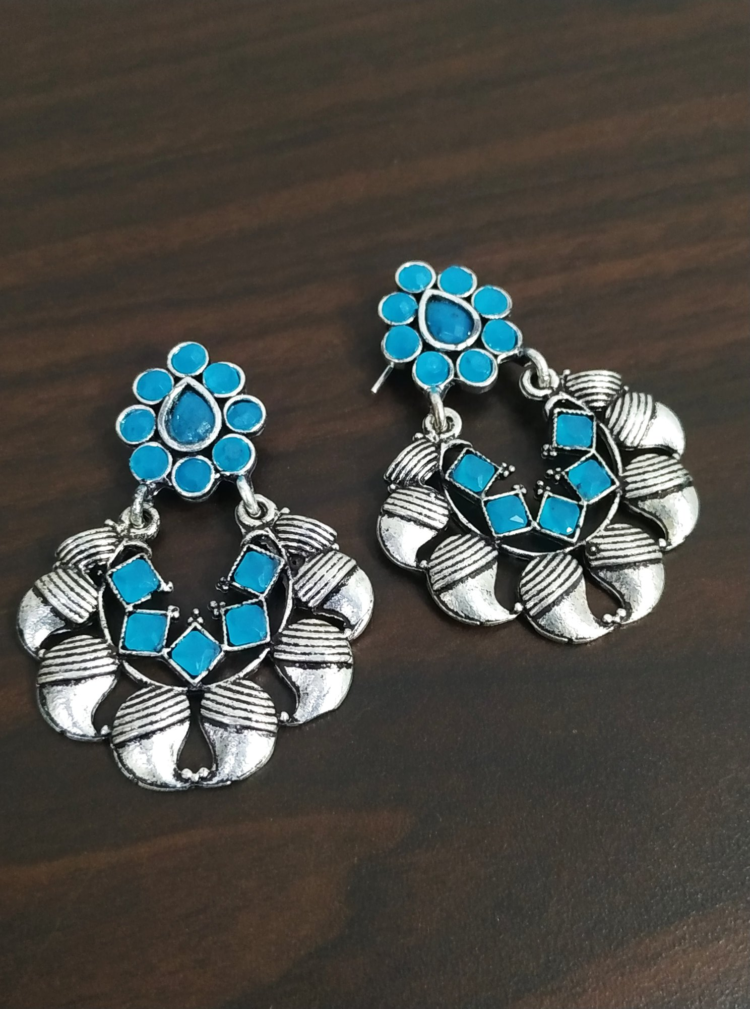 Beautiful Stone Oxidised Bali