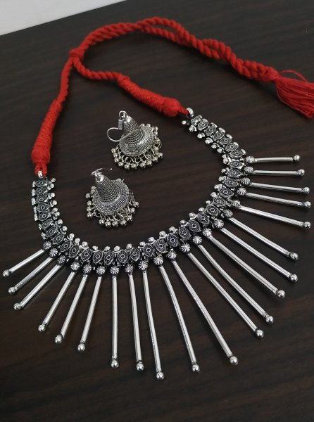 Stylish Handicrafted Oxidised Necklace Set