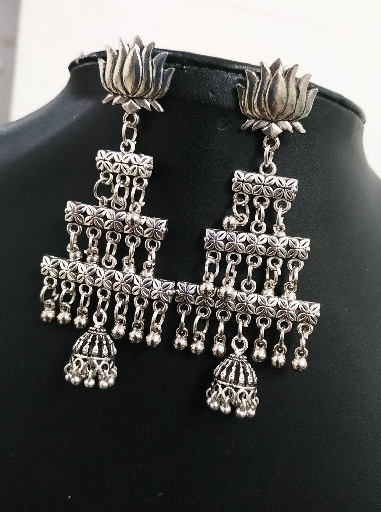 Pretty Oxidised Classy Earrings