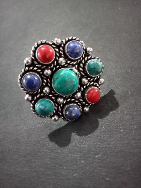 Gracious Multicolor Stone Ring