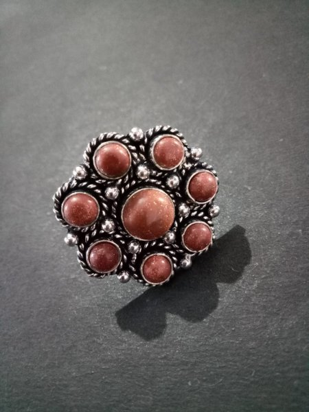 Lovely Adjustable Stone Ring