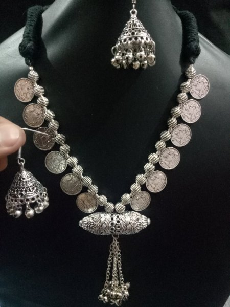 Traditional Rajasthan Coin Necklace Set