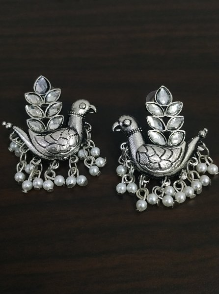Lovely Stone Peacock Earrings