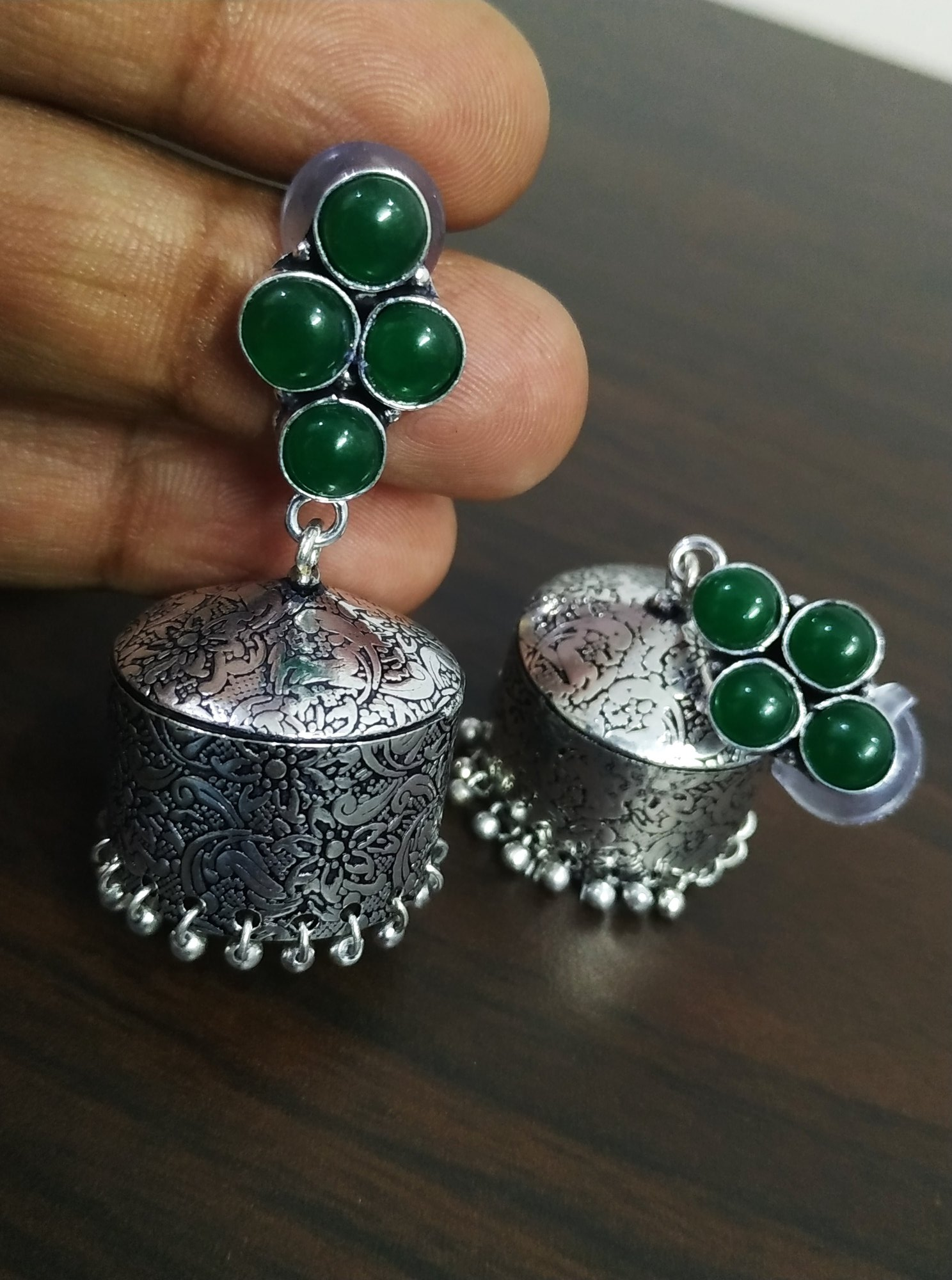 Beautiful Handmade Stone Jhumka