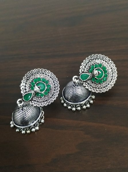 Gorgeous Peacock Jhumki