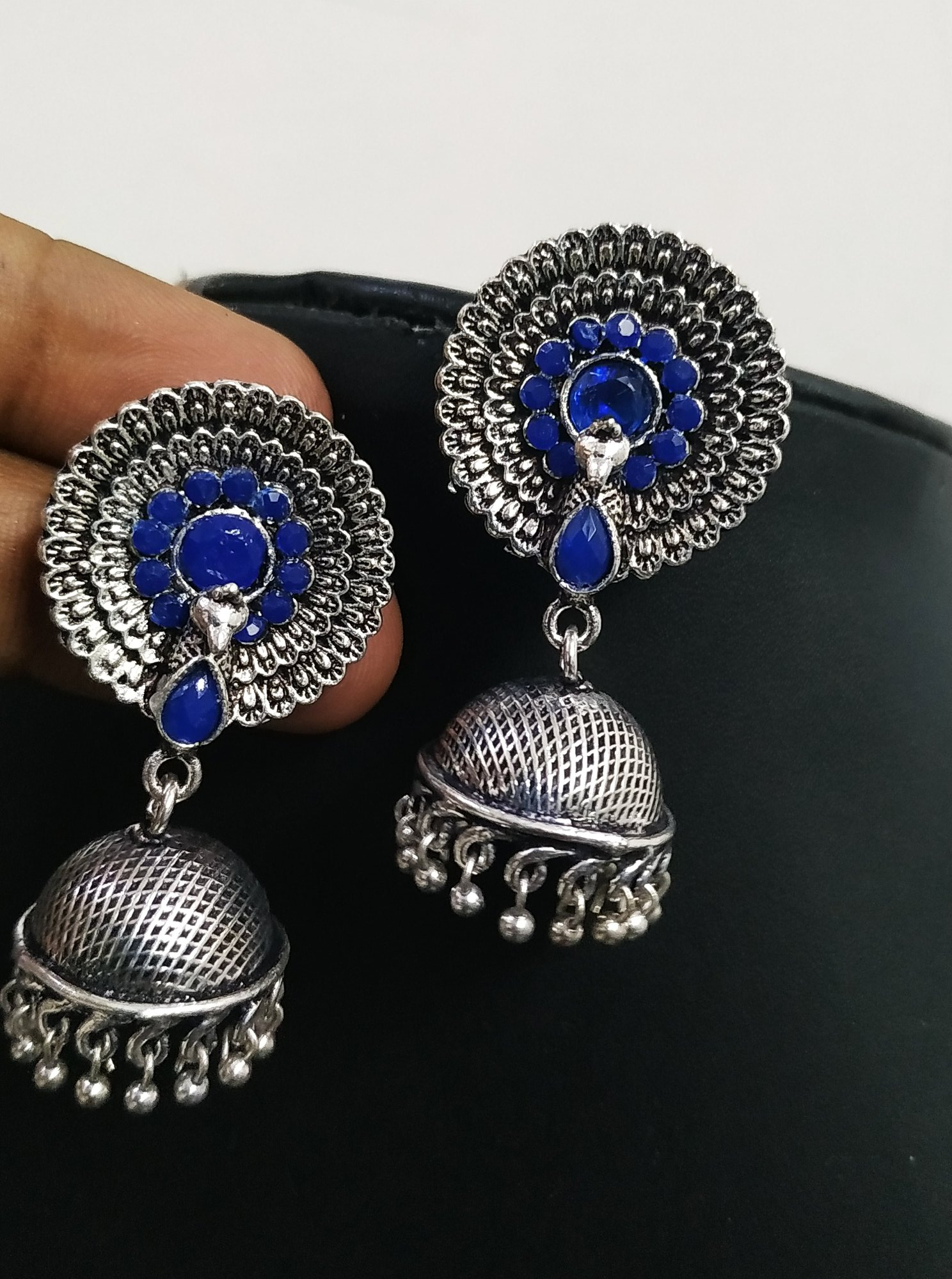 Ravishing Peacock Jhumki