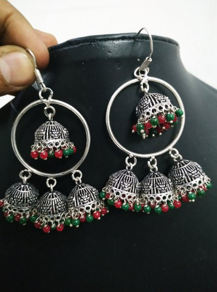 Handicrafted Oxidised Big Jhumki