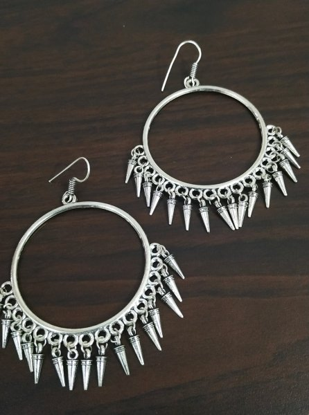 Ethnic Big Round Earrings