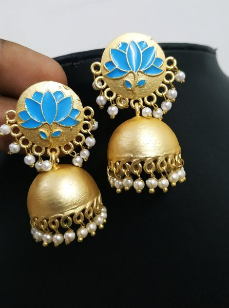 Antique Matt Jaipuri Earrings