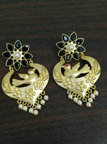 Dazzling Stone Rose Gold Earrings