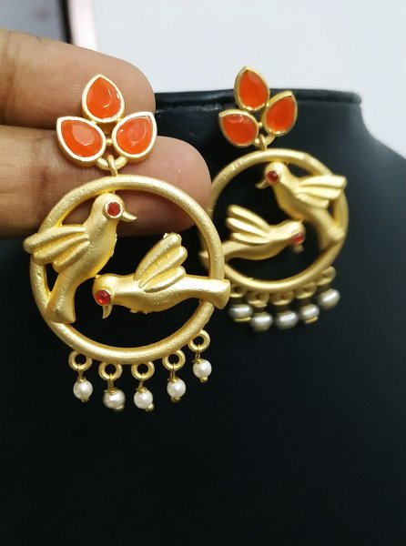 Appealing Rose Gold Parrot Earrings
