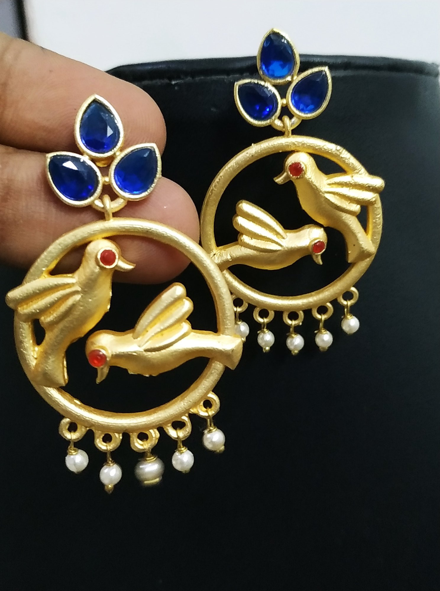 Attractive Parrot Rose Gold Earrings