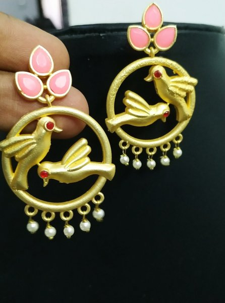 Delightful Parrot Stone Earrings