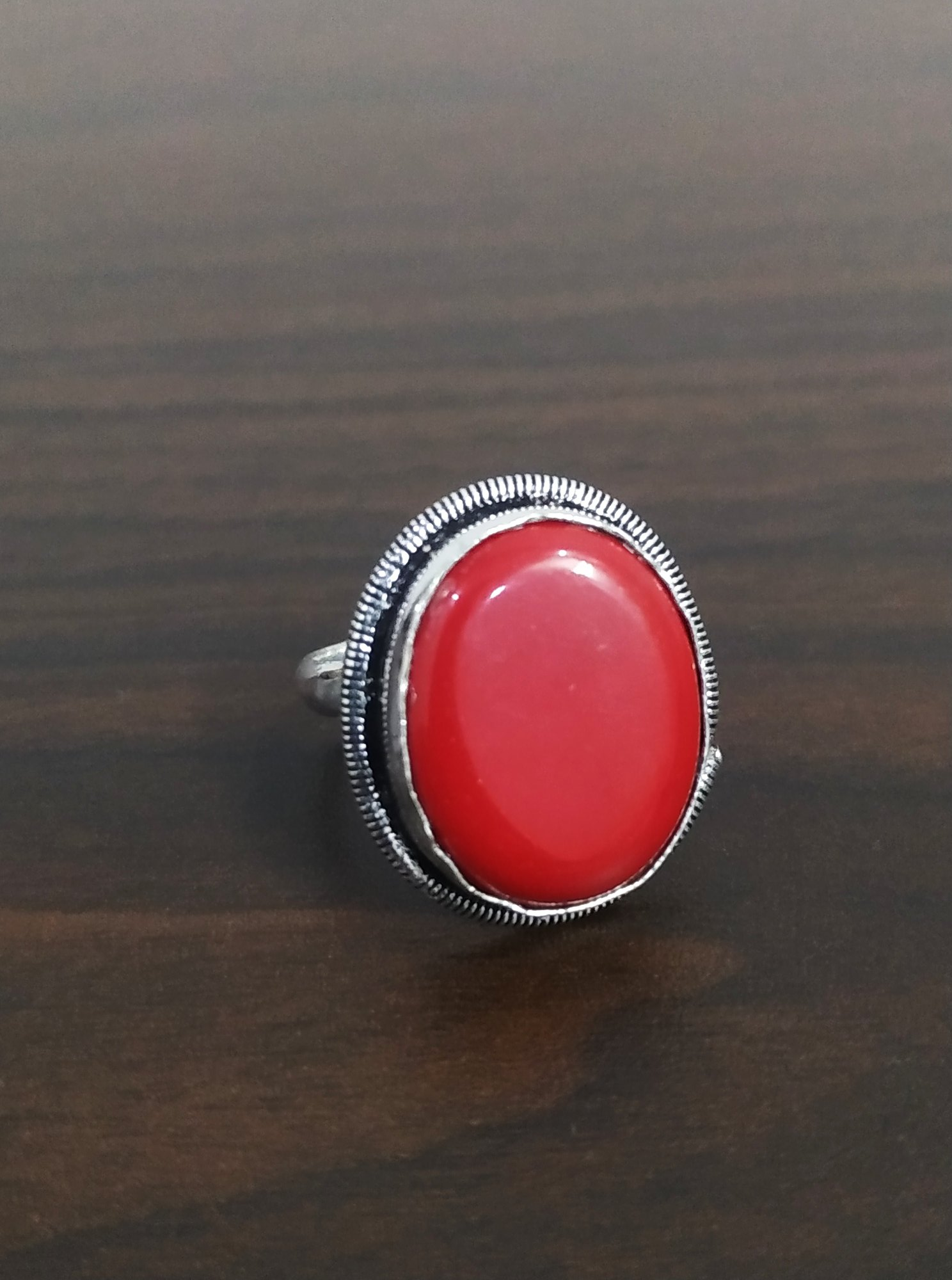 Beautiful Stone Adjustable Finger Ring