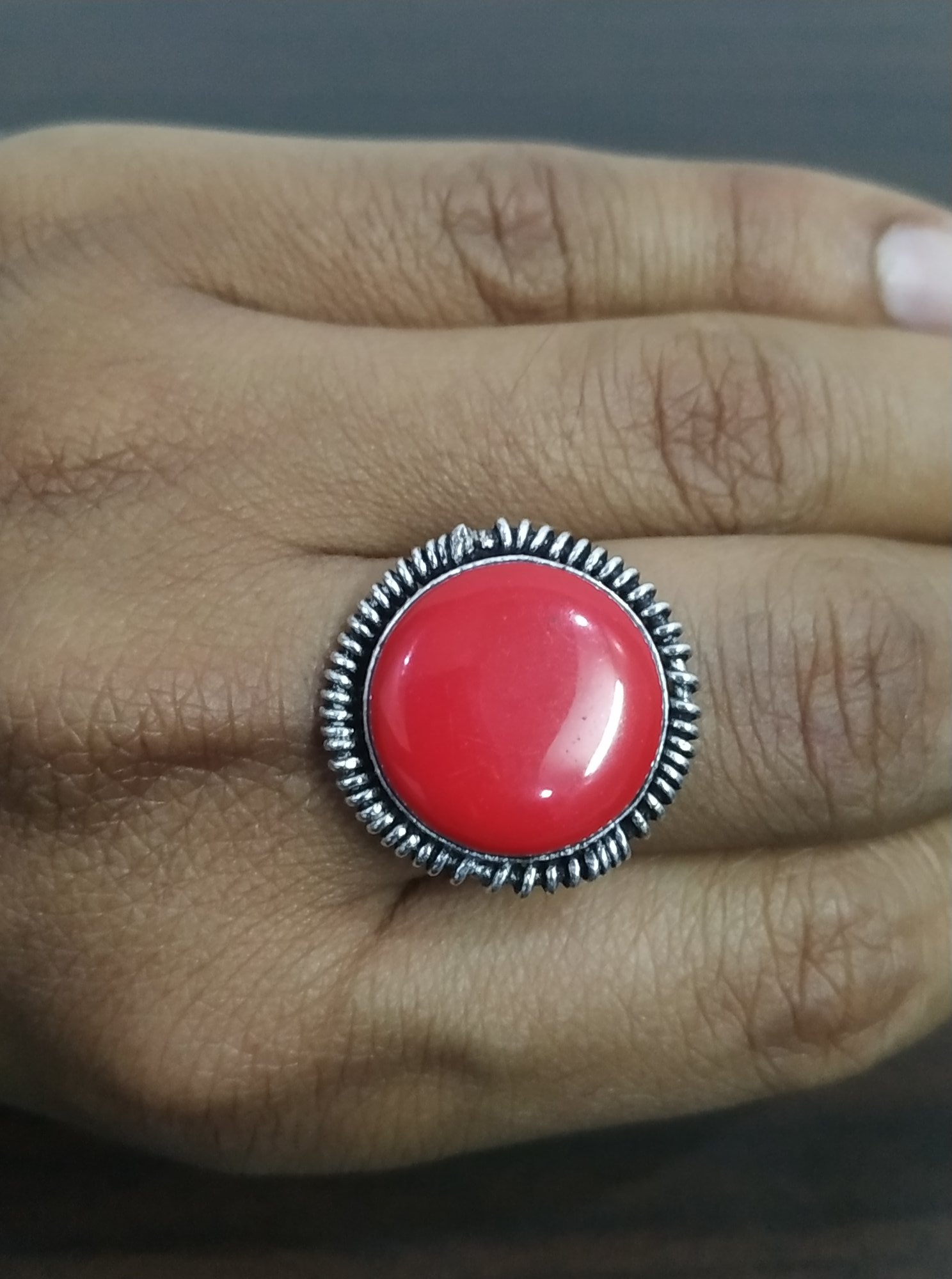 Beautiful Finger Adjustable Stone Ring