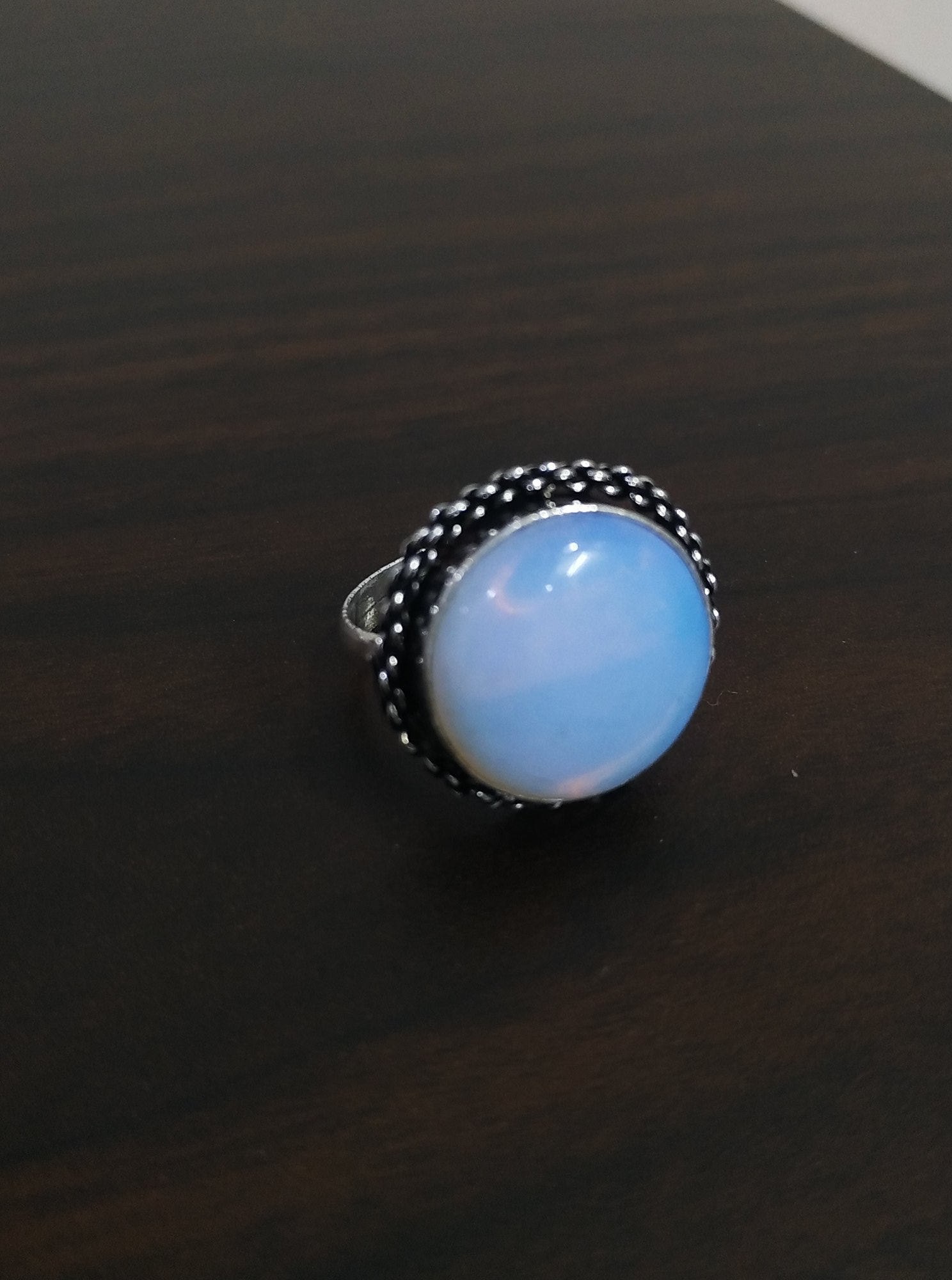 Traditional Stone Adjustable Finger Ring