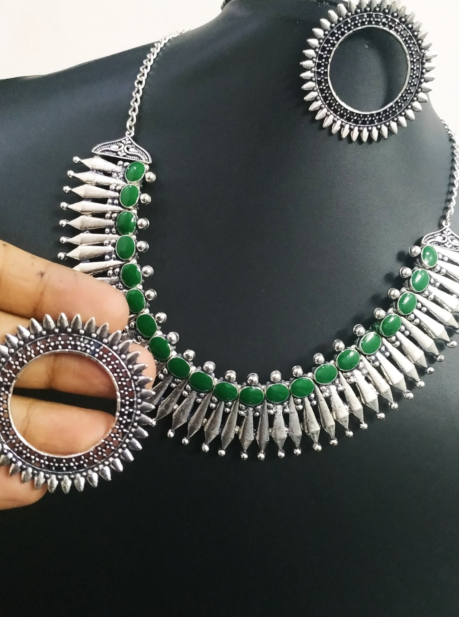 Attractive Oxidised Necklace Set