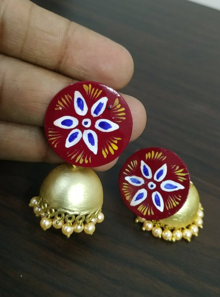Tempting Chic Handpainted Jhumka