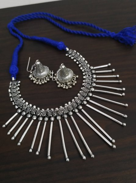 Banjara Style Oxidised Necklace Set