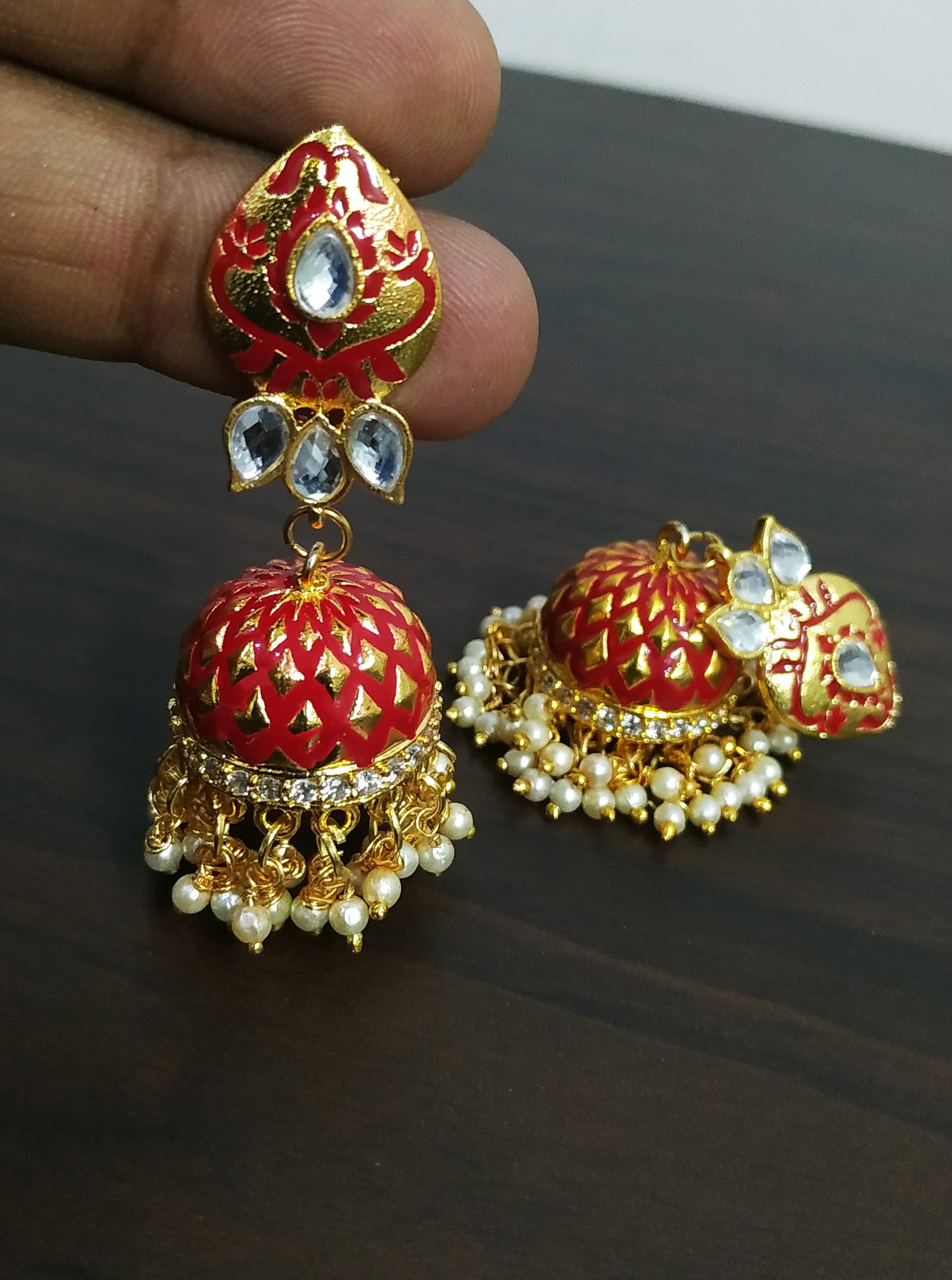 Gorgeous Ad Studded Meena Earrings