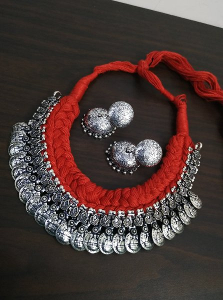 Traditional Thread Choker Necklace Set