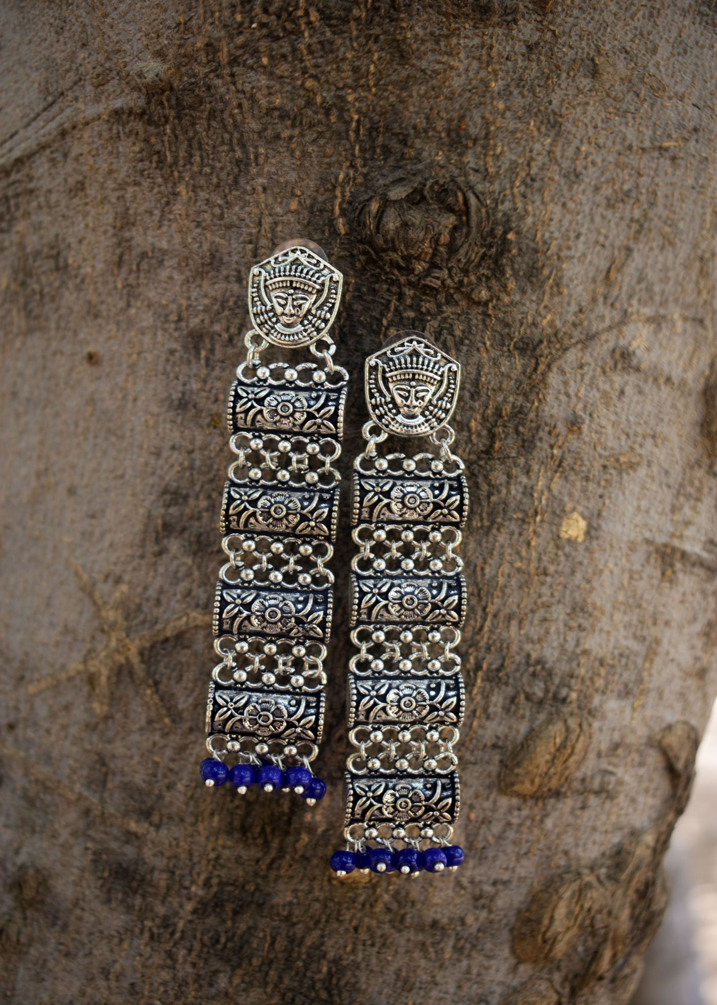 Attractive Beaded Temple Earrings
