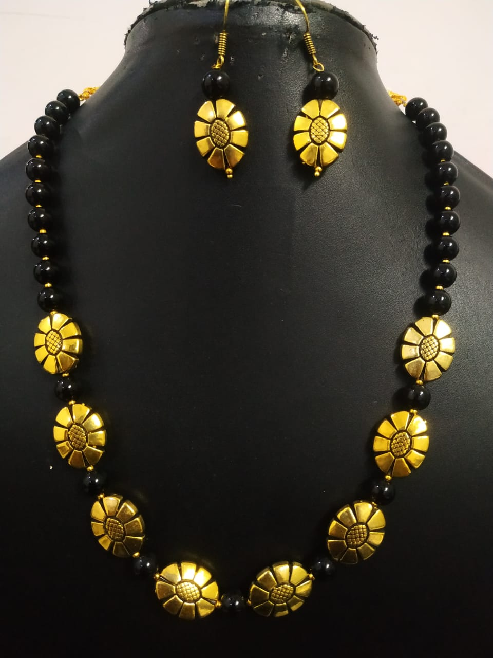Gorgeous Golden Antique Oxidized Necklace Set