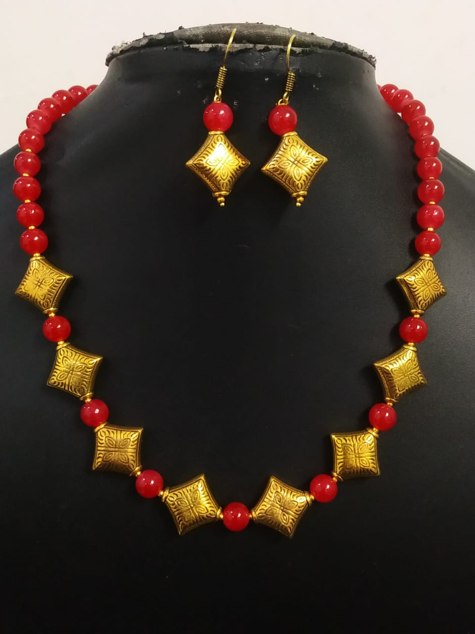 Beautiful Antique Oxidized Necklace Set