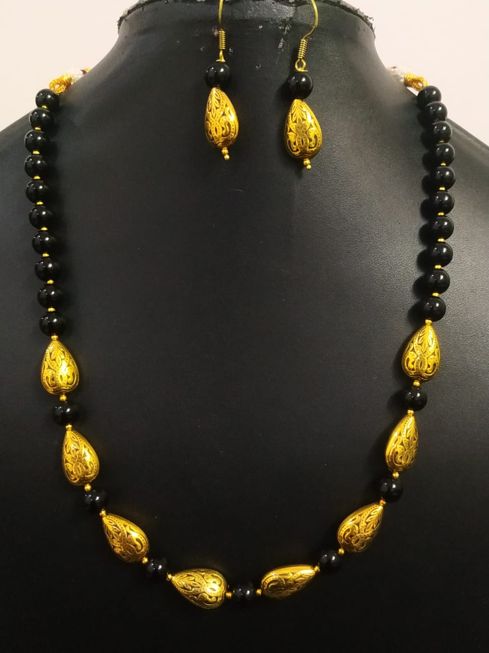Partywear Golden Antique Beaded Set