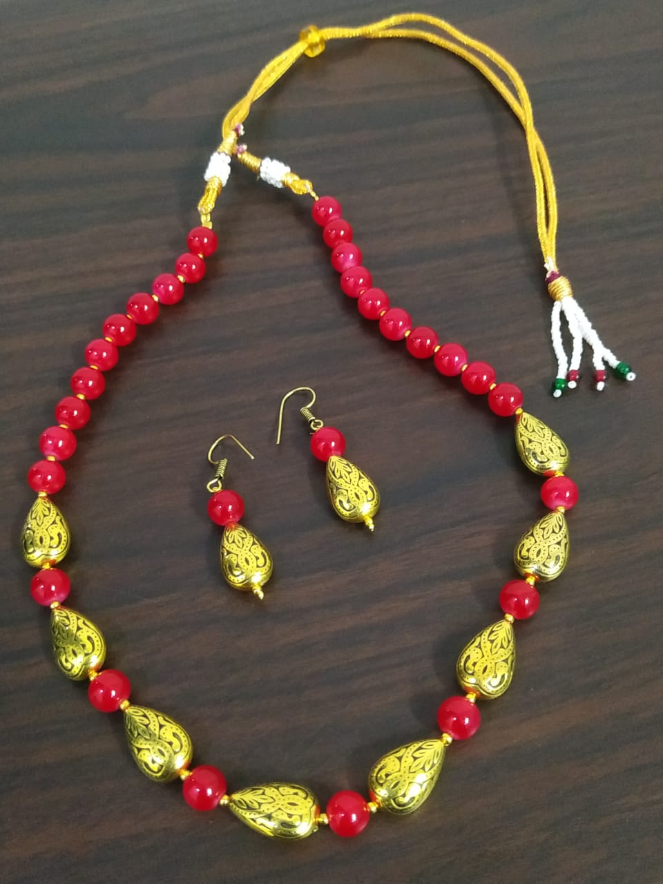 Stylish Golden Oxidized Necklace Set
