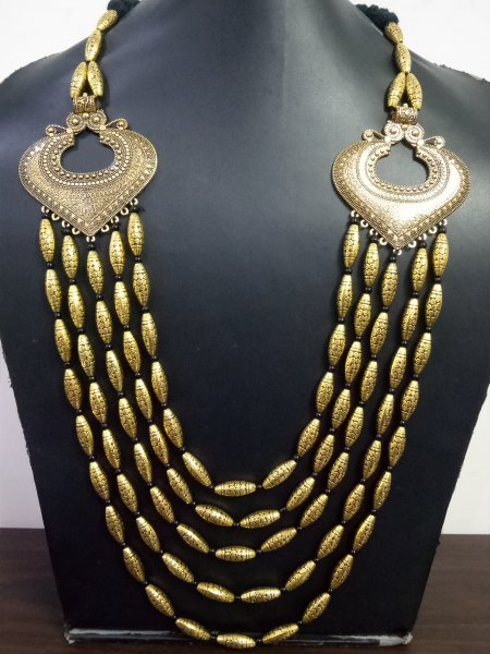 Gorgeous 5 Layer Antique Necklace Set