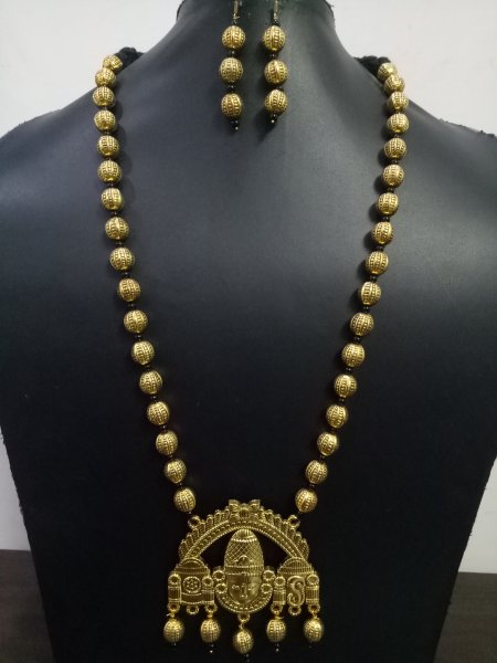 Classy Golden Temple Necklace Set