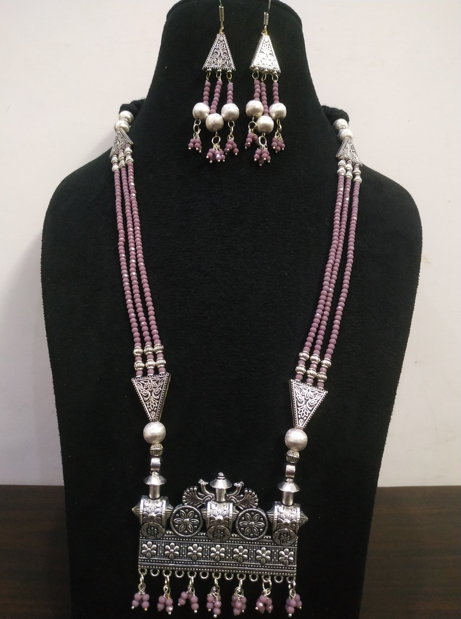 Glittering Ethnic Partywear Necklace Set