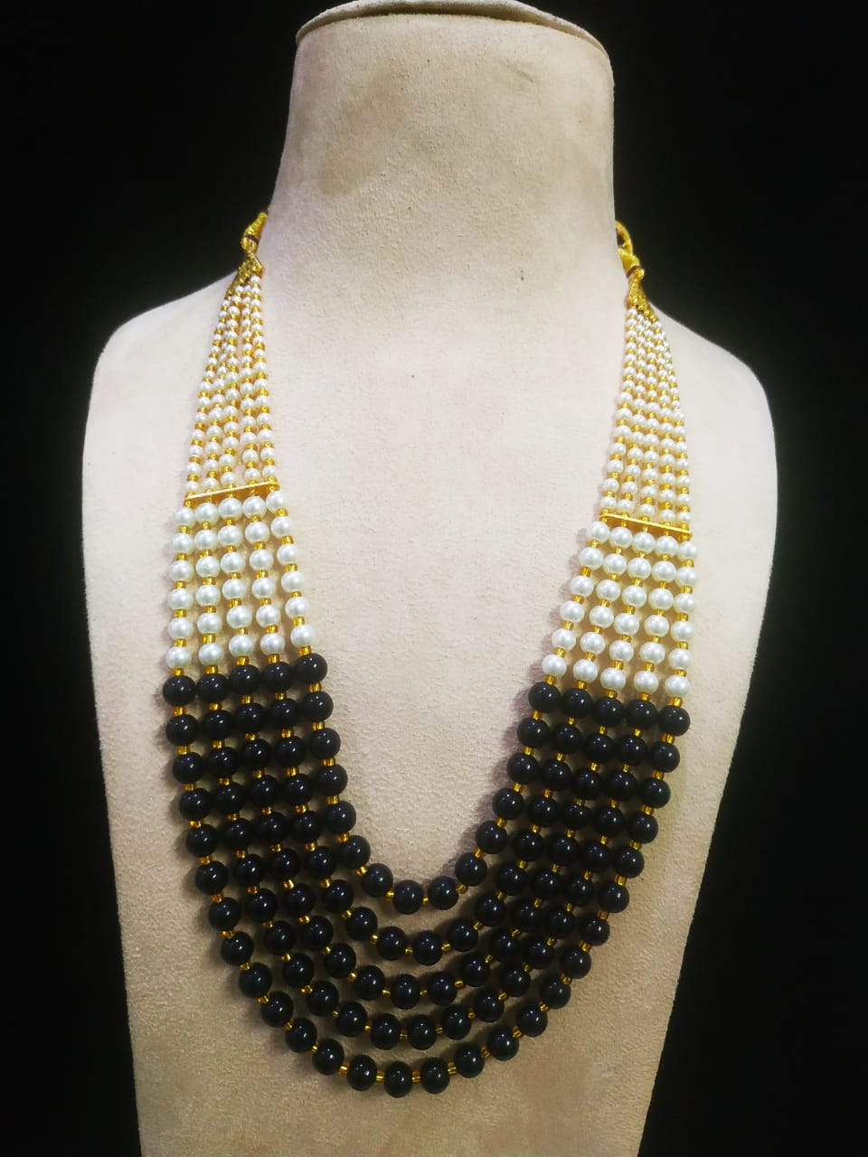 Adorable  Five Layer Beads & Pearl Mala