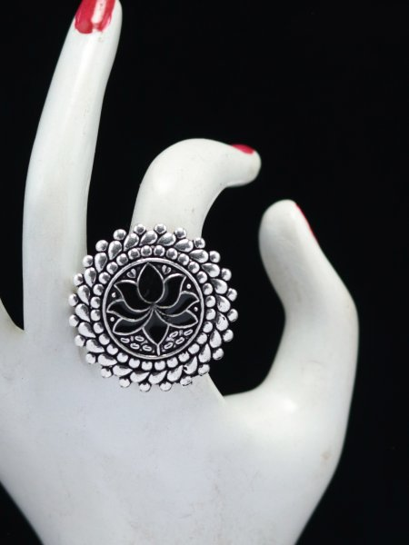 Fabulous  lotus meena adjustable ring