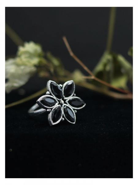 Classy Stone Adjustable Ring