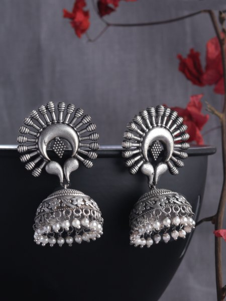 Crafted Silver Looklike Brass Big Jumkha
