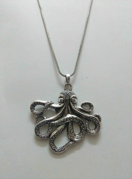 Octopus Pendant With Chain