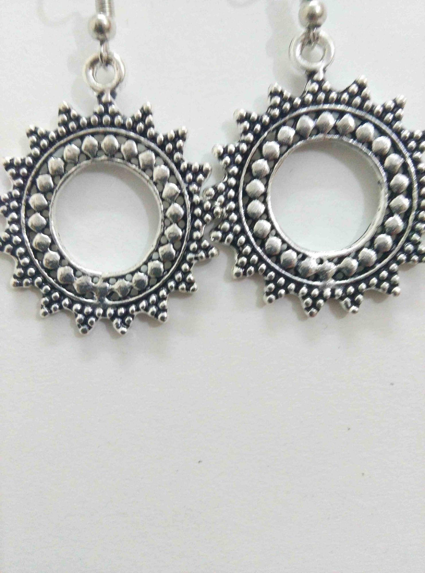 from old pin made worn india the silver rajasthani bhil mixed by with earrings