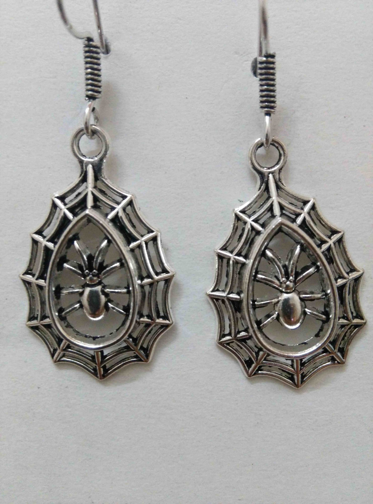 Antique Spider Web Earrings
