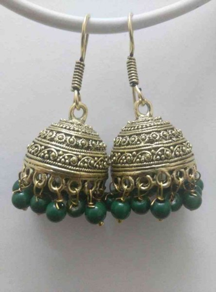 Handmade  Beads Jhumki Earrings