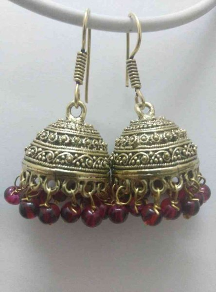Royal Ethnic Beads Jhumki Earrings