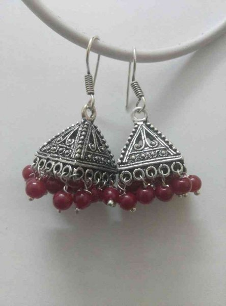 Designer Beads Jhumki earrings