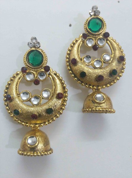 Designer Jhumki Earrings