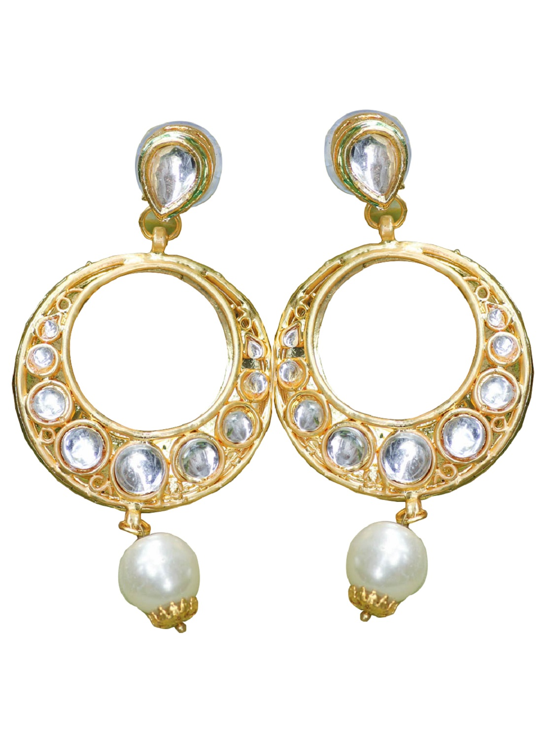 Beautiful KUNDAN & Pearl Bali Earring