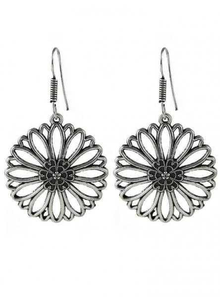 Designed Flower Earring