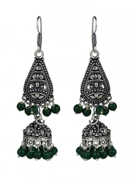 Beads Partywear Jhumki Earrings