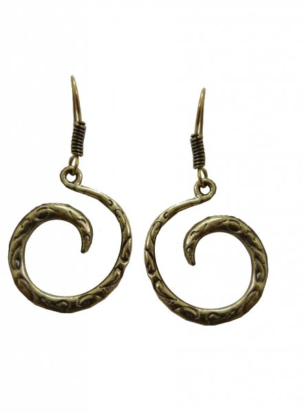Beautiful Spiral Golden Earrings
